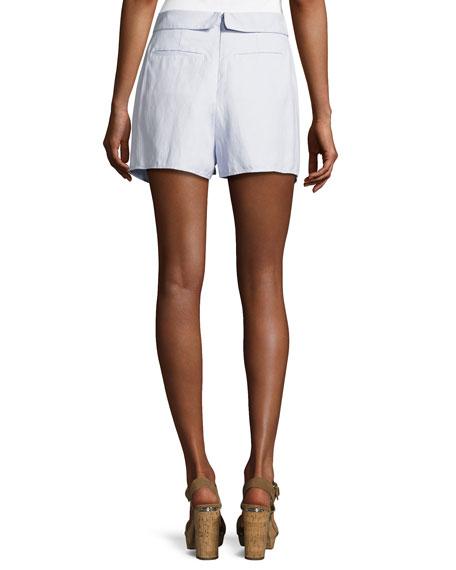 Tie-Front Wrap Shorts, Sky
