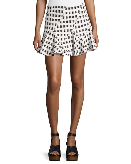 Derek Lam 10 Crosby Flared Mini Skirt W/