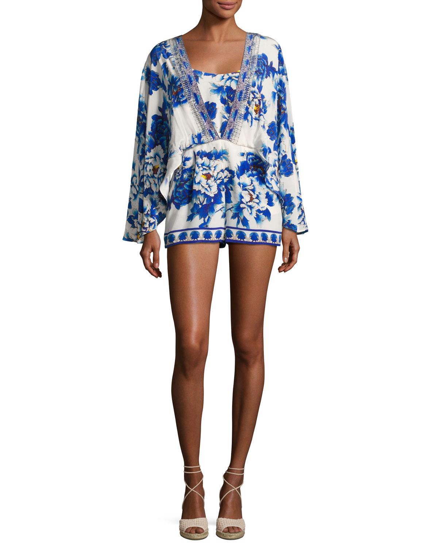 b5a279a868a Camilla Long-Sleeve Cape Playsuit