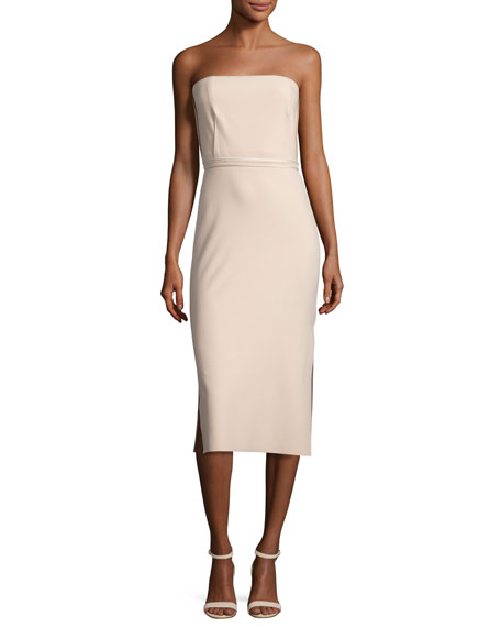 Elizabeth and James Sierra Strapless Sheath Dress, Nude