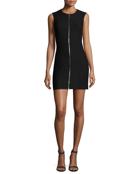 Elizabeth and James Susannah Sleeveless Full-Zip Bodycon Mini