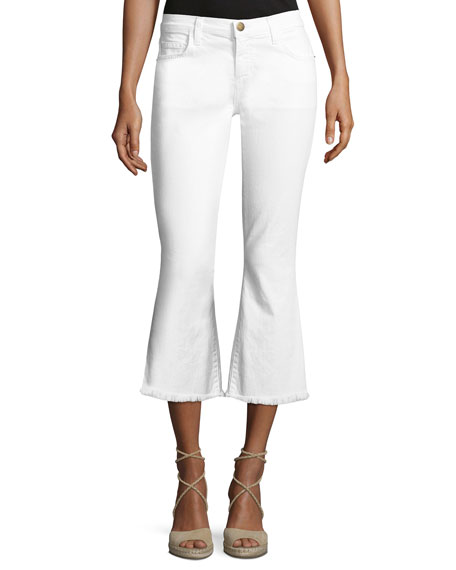 Current/Elliott The Cropped Flip Flop Jeans, White