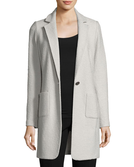 St. John Collection Clair Knit Skinny-Lapel Jacket, Light