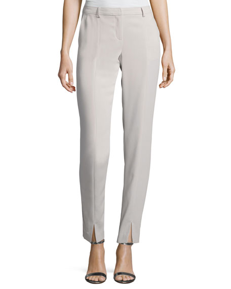 St. John Collection Classic Stretch Cady Ankle Pants,