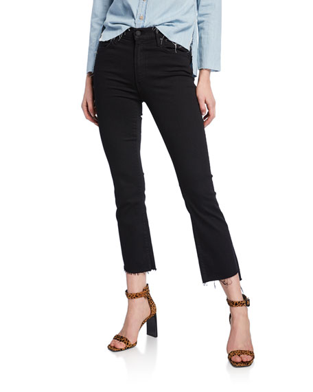 Mother Denim Insider Crop Step Fray Jeans, Not
