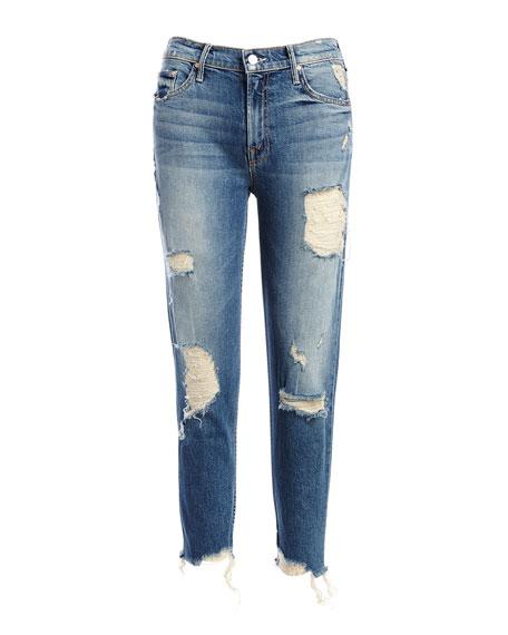 Sinner Slashed Straight Jeans, Ice Scream/You Scream