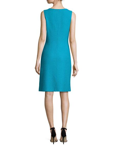 Clair Knit Bateau-Neck Dress, Blue
