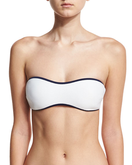 Heidi Klein St. Kitts Binding Bandeau Swim Top,