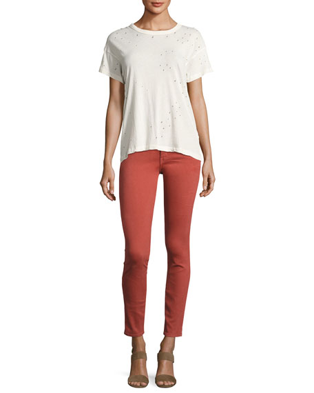 The Skinny Skinny Denim Jeans, Red