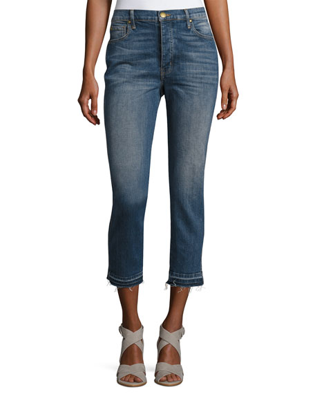 The Great The Fellow Cropped Denim Jeans, Indigo