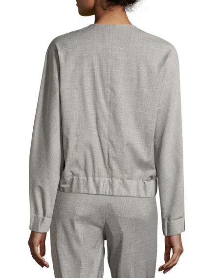 Fiorano Zip-Front Bomber Jacket, Gray