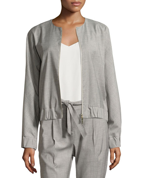 Antonelli Fiorano Zip-Front Bomber Jacket, Gray and Matching