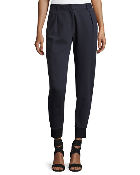 Santiago Tapered Wide-Cuff Pants, Navy