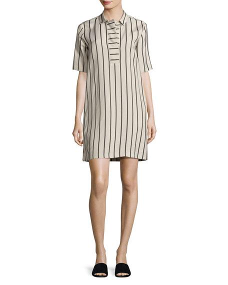 Antonelli Lodi Short-Sleeve Striped Shift Dress