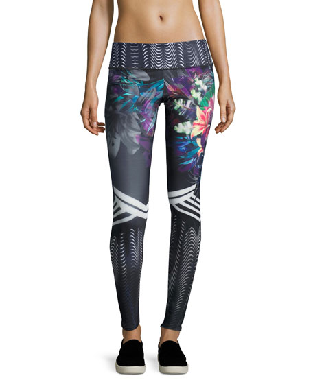 Onzie Graphic Printed Sport Leggings, Tiger Lily