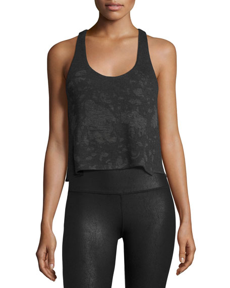Alo Yoga Step Tank Racerback Top, Charcoal