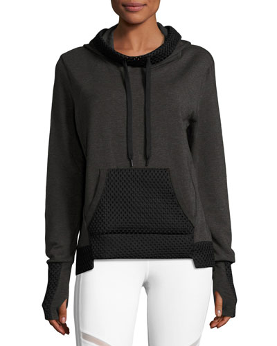 Eclipse Long-Sleeve Pullover Hoodie, Charcoal