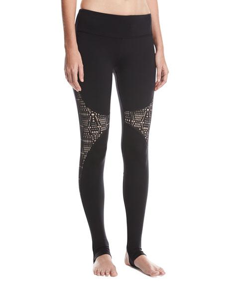 Alo Yoga West Coast Laser-Cut Performance Leggings, Black