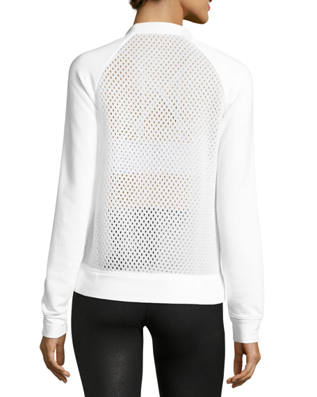 Elemental Mesh Sweatshirt, White