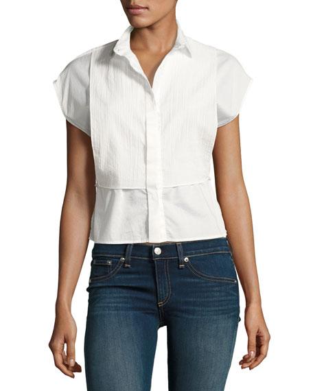 Rag & Bone Stevie Short-Sleeve Bib Shirt &