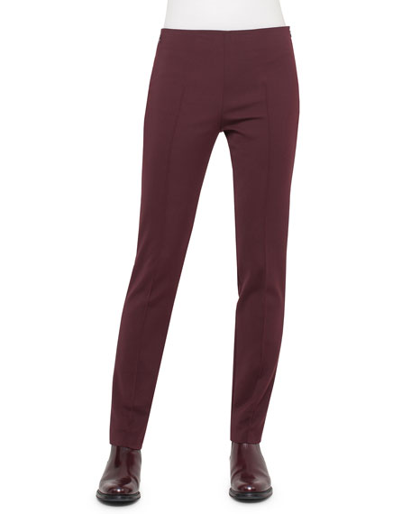 Melissa Techno Slim-Leg Pants, Mangosteen