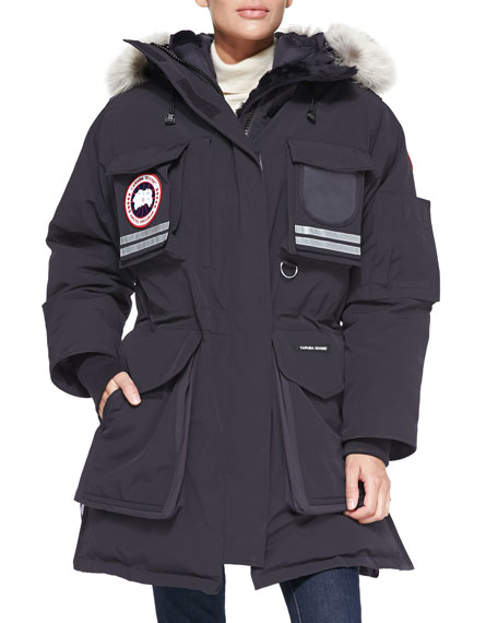 Canada Goose Snow Mantra Fur-Hood Coat, Navy