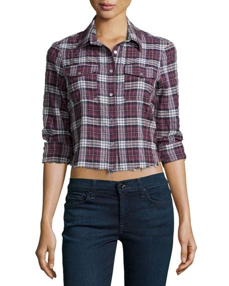 Elizabeth and James Buckley Shirt W/Frayed Hem
