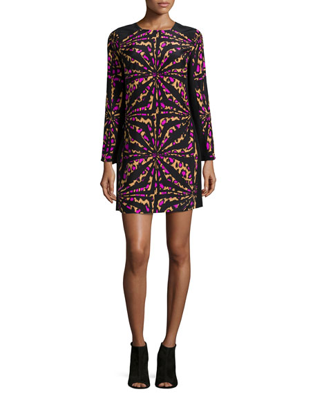 Alice & Trixie Zoey Long-Sleeve Printed Shift Dress,