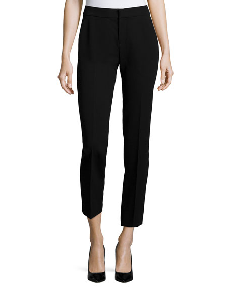 Foundrae Slim Wool Ankle Pants