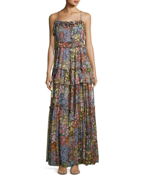 Needle & Thread Flowerbed Sleeveless Maxi Dress, Multicolor