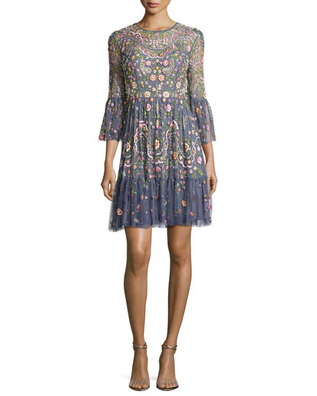 Needle & Thread Embellished Dragonfly Garden Mini Dress,
