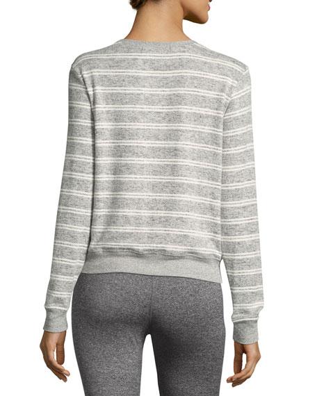 Collegiate Arch Metallic-Logo Sweatshirt