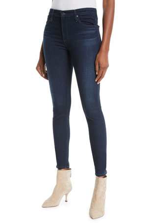 AG Adriano Goldschmied The Farrah High-Rise Skinny Jeans, Brooks