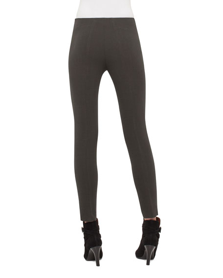 Melissa Techno Slim-Leg Pants, Turtle
