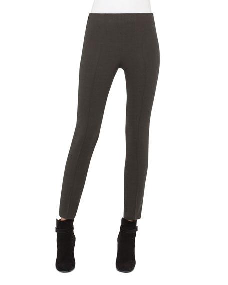 Akris Melissa Techno Slim-Leg Pants, Turtle