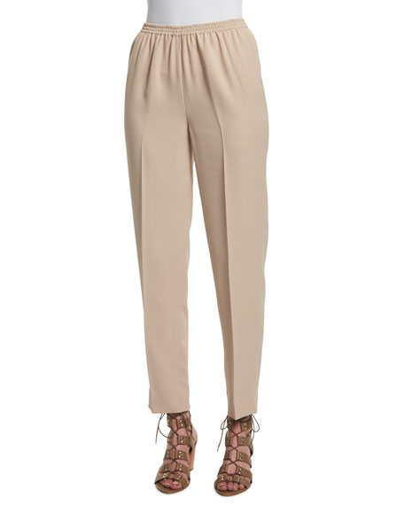 Shamask Narrow-Leg Ankle Pants, Tan