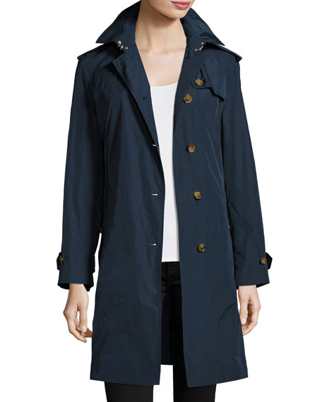 Renwick Single-Breasted Belted Rain Coat