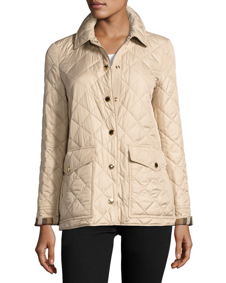 Westbridge Relaxed Quilted Jacket, Beige