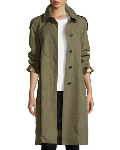 Oversized Cotton Trenchcoat, Olive