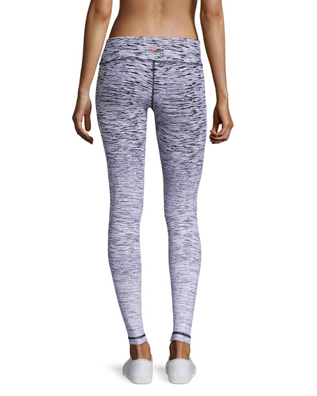 Reversible Ombre Athletic Leggings, White