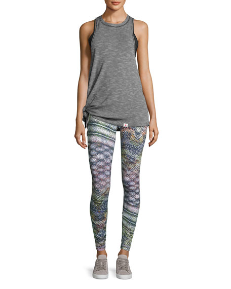 Reversible Print Performance Leggings, Multipattern