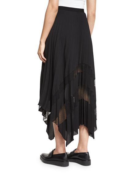 Plissé Point D'Esprit Handkerchief Skirt