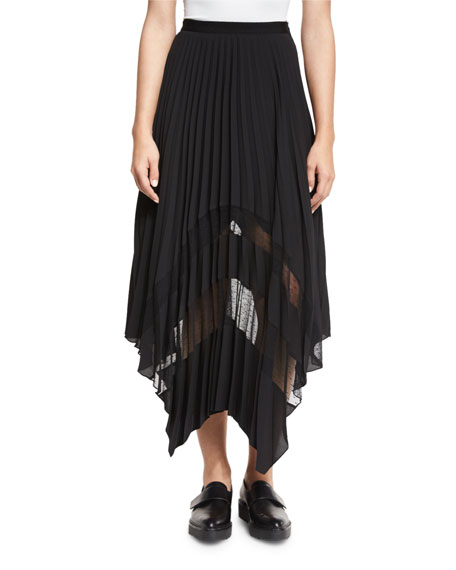 cinq a sept Plisse Point D'Esprit Handkerchief Skirt