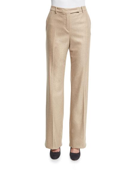 Loro Piana Lawrence Straight-Leg Trousers, Soft Sand Camel
