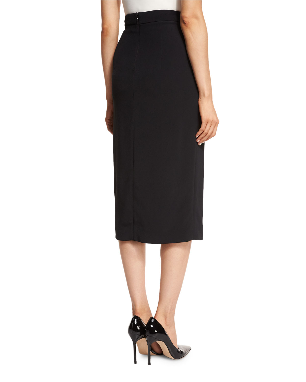7fc1f16ba Cushnie Et Ochs Beaded-Trim High-Slit Pencil Skirt, Black | Neiman Marcus