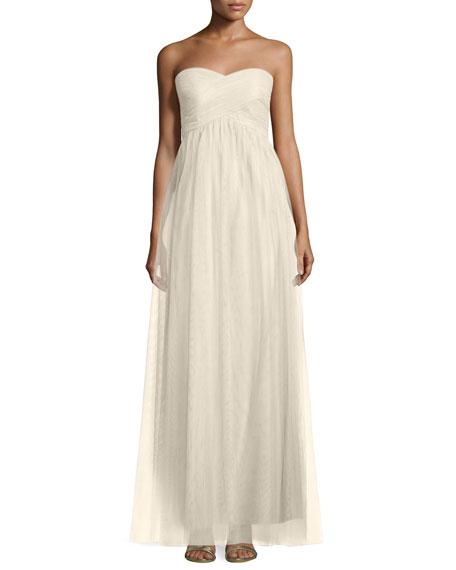 Felicity Crisscross-Bodice Chiffon Gown