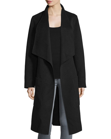 Joseph New Live Double-Face Wrap Jacket, Black