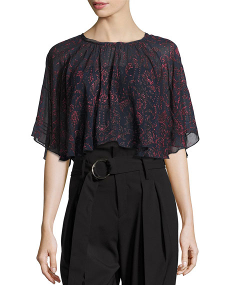 Anida Floral Voile Top