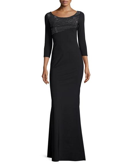 Chiara Boni La Petite Robe Lasa 3/4-Sleeve Embellished
