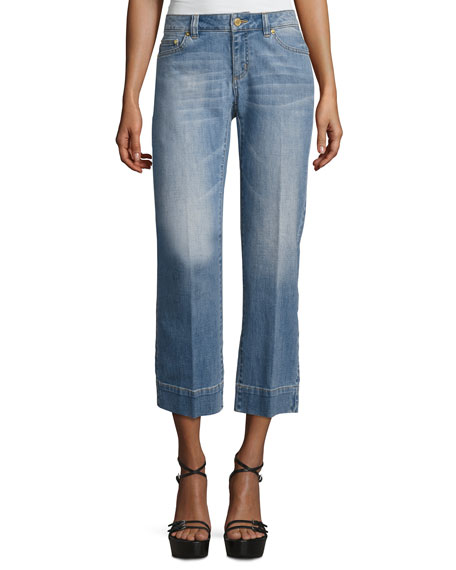 MICHAEL Michael Kors Cropped Straight-Leg Jeans